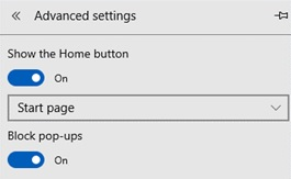 Site Settings for Edge